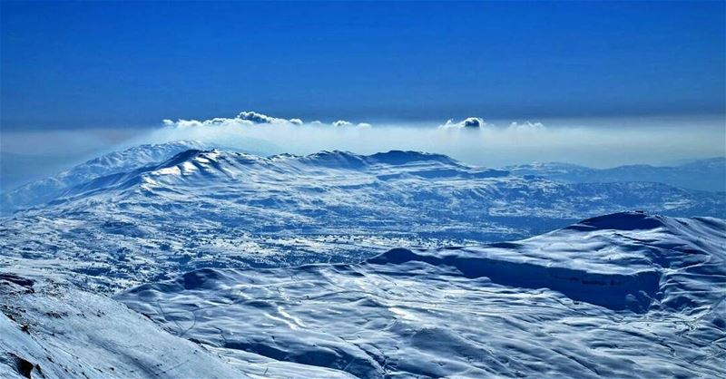 lebanon mountains snow scene blue sky white instagram insta ...
