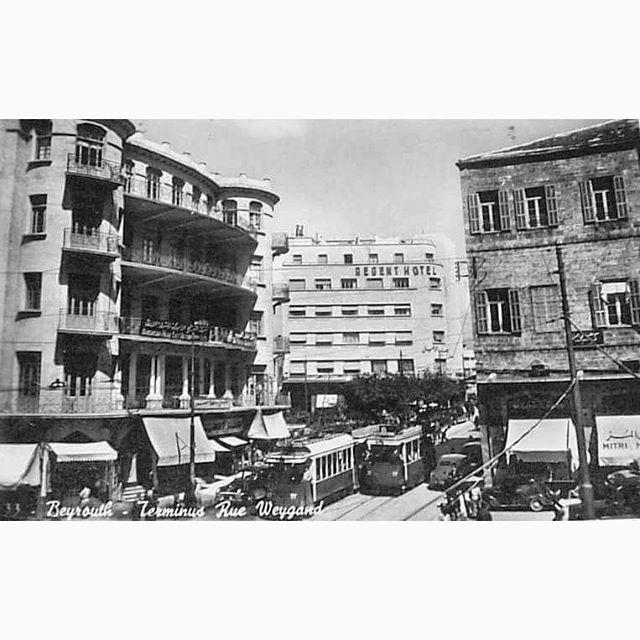 Beirut Weygand Street In 1951 ,