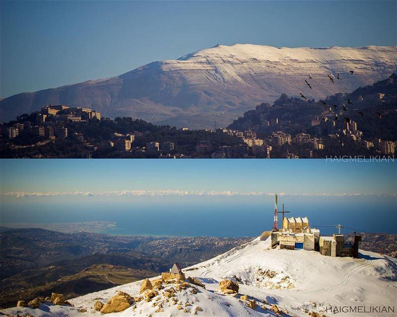 Split Shot from Beirut to Sannine 🔃🗻 Lebanon whatsuplebanon instagram... (Beirut Bourj Hammoud)