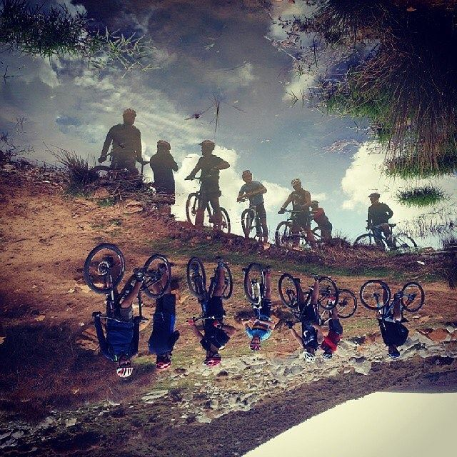Bike buddies - flip screen 🚵🏻⛰ mtb mountainbike freeride offroad ... (Sannin, Mont-Liban, Lebanon)