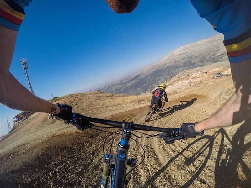 Cornering 🎢 trekbikes treklebanon enduro downhill offroad trail ... (Zaarour Country Club)