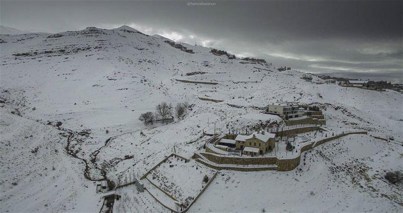 50 shades of white lebanon dji aerialperspective lebanoninapicture ... (Faqra Kfardebian)