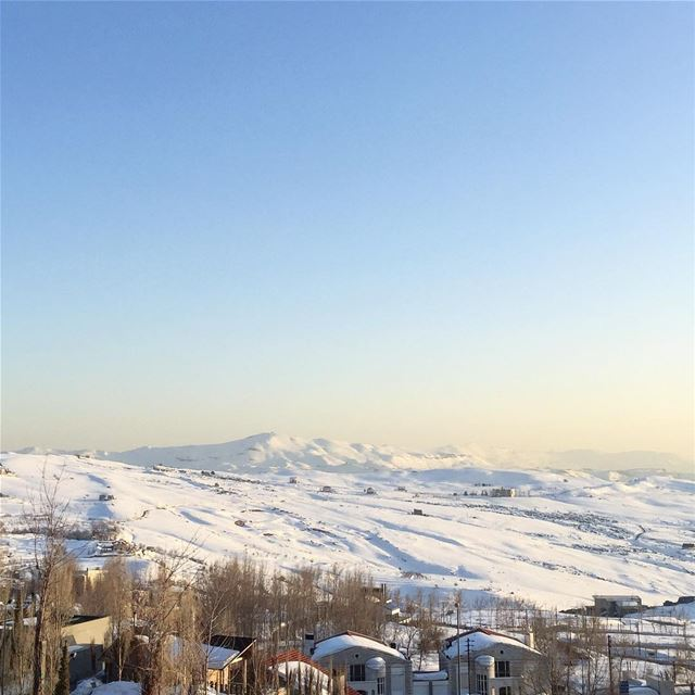 Snow caped mountains are such a pretty sight ! @faqraclub lebanon ... (Faqra Kfardebian)