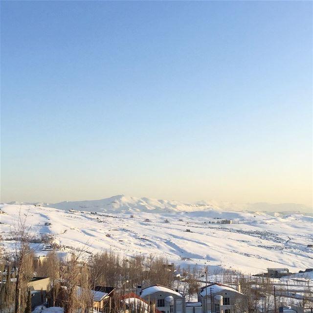 Snow caped mountains are such a pretty sight ! @faqraclub lebanon ... (Faqra Kfardebian)