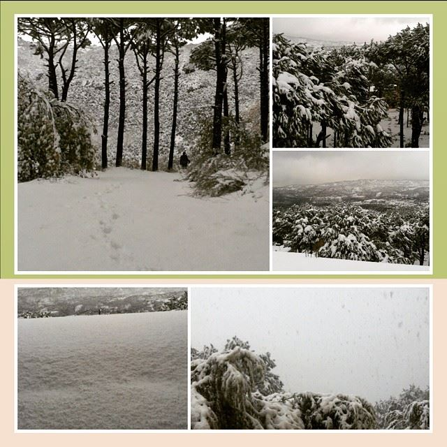 PicsArt lebanon bzebdine home village town snow ...