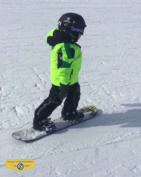 3-year-old ROS student Ghaith Fawaz following in Mum's footsteps to... (Mzaar Ski Resort)