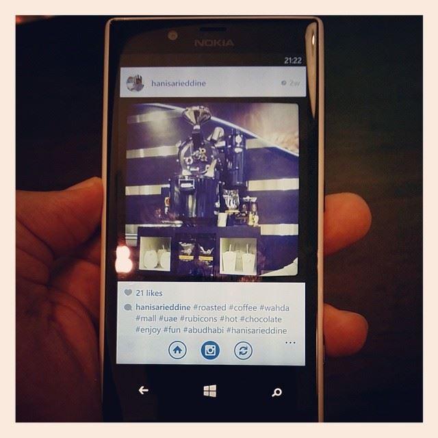 Nokia instagram finally windows phone hani Abudhabi UAE world ...