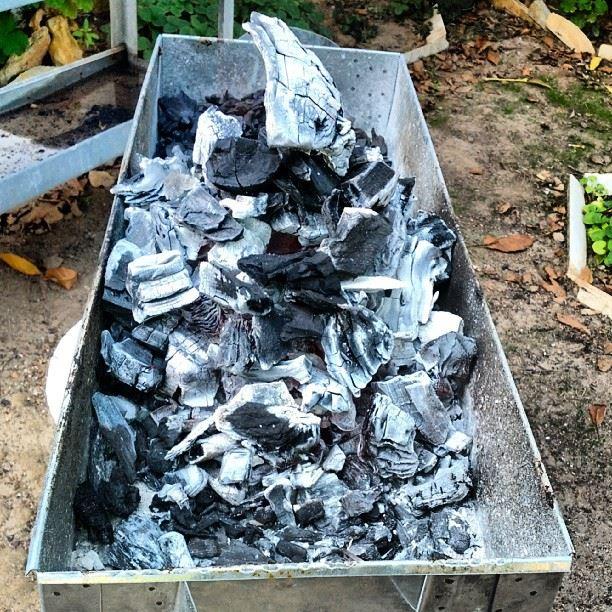 BBQ FIRE hot coals Lebanon mountain ...