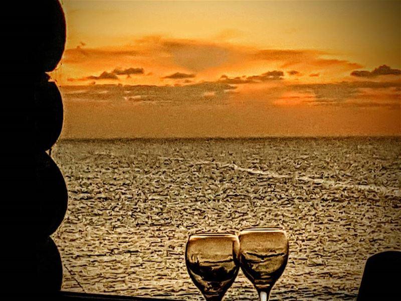 sunset sunsets sunsetlovers wine winetime redwine lebanon ...
