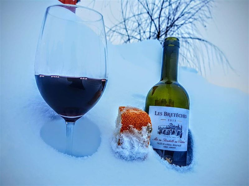 wine winetime kefraya kefrayawinery chateaukefraya snow snowingday ... (El Laqloûq, Mont-Liban, Lebanon)