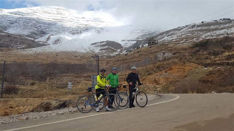 cycling cyclingtime riding togother with friends in sannine ... (Mount Sannine)