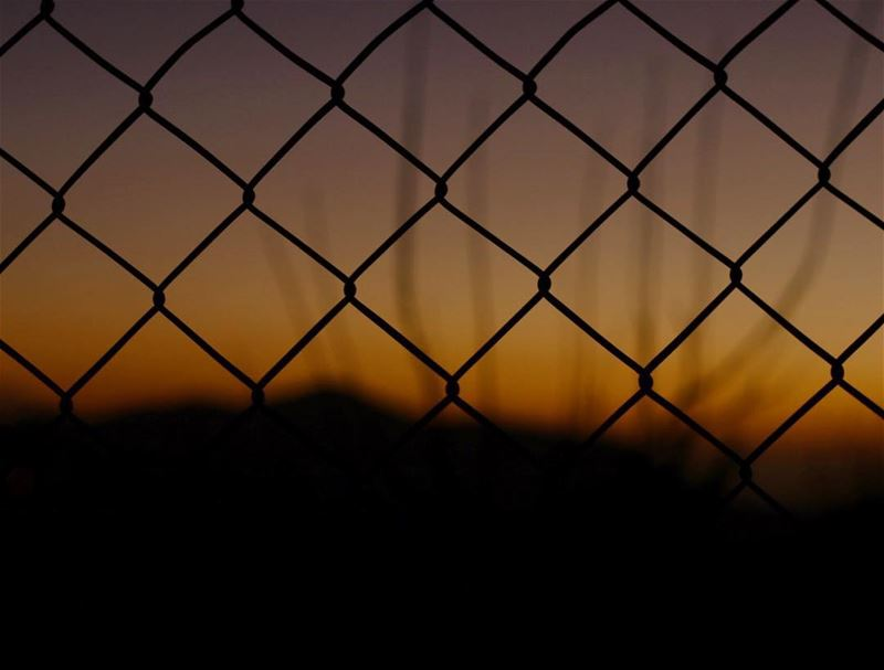 Beautiful things can never be stoped !! fence freedom sunset Lebanon ...