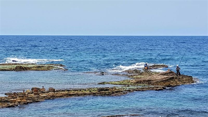 goodmorning friends amchit puncho jbeil lebanon sea blue water ... (Amchit)