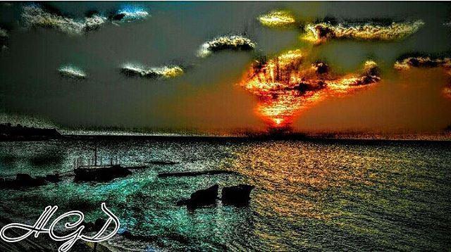 sunset sunsetlovers sunsetlove batroun instabatroun batrounbeach ... (Pierre & Friends)