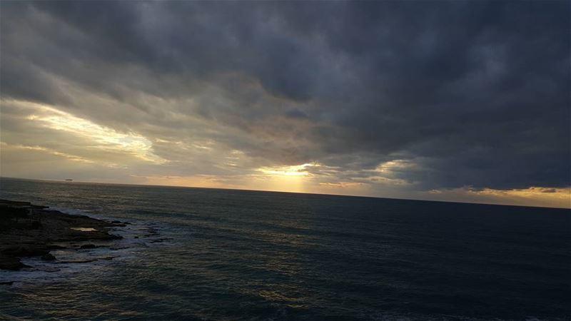 sunset sunsetlovers sunsetlove amchit lebanon lebanonisbeautiful ... (Amchit)