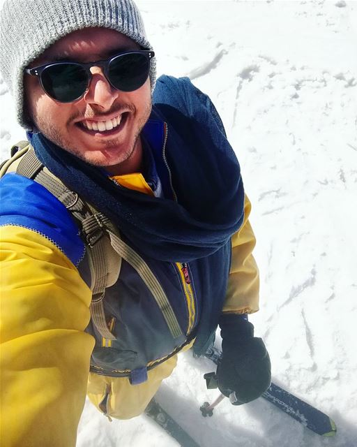 Hello✌️❄️🌨️ From Faraya Selfie ski Snow Winter Cold White High ... (Faraya Mzaar)