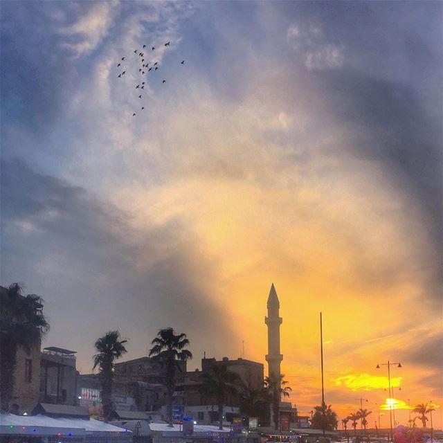 A Sunset from Saida 🌅______________________________________... (Saïda, Al Janub, Lebanon)
