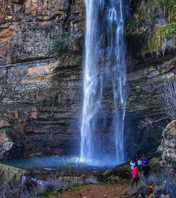 The waterfall of Jezzine town considered as the highest waterfall in the... (Ouâdi Jezzîne, Al Janub, Lebanon)