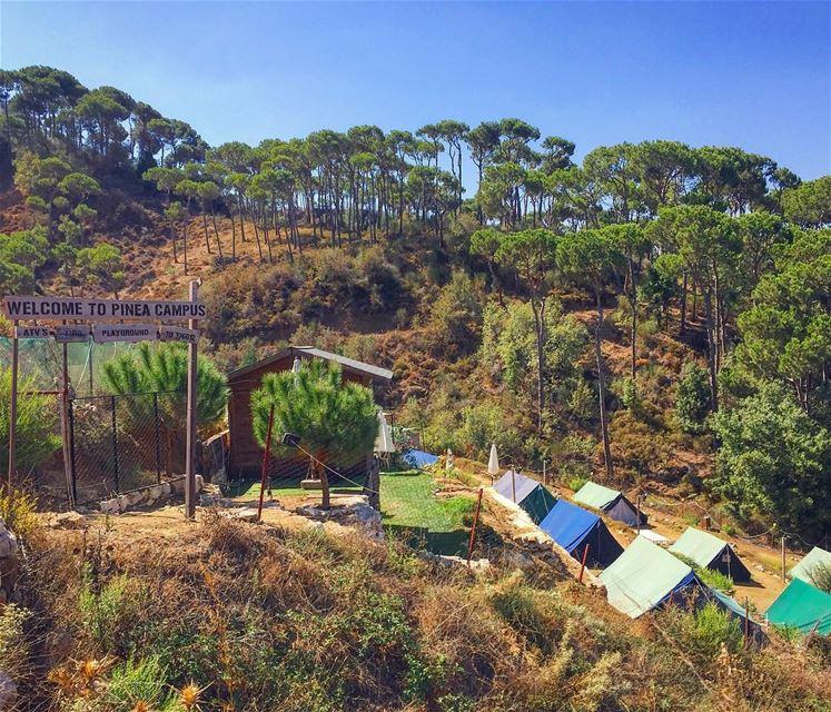 camping nature naturephotography naturelovers blue sky skyporn ... (Haïtoura, Al Janub, Lebanon)