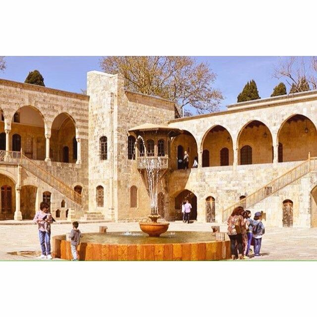 Beiteddine Palace inner courtyard,