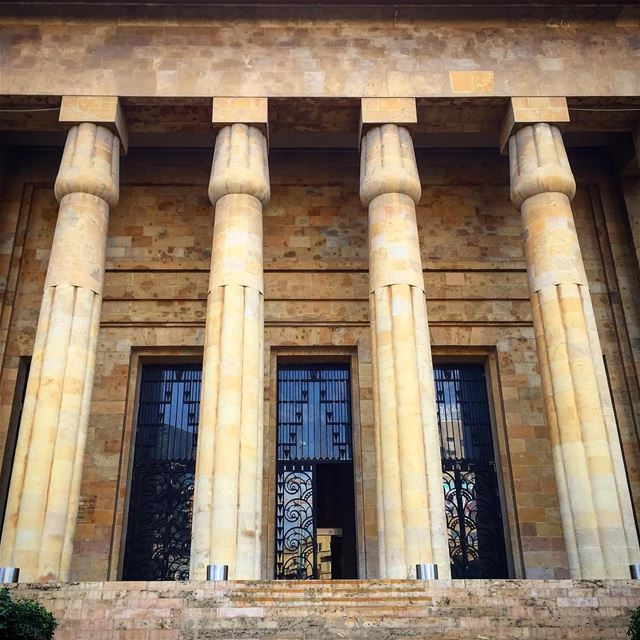 national  museum  pillars  architecture  archilovers  architecturelovers ... (National Museum of Beirut)