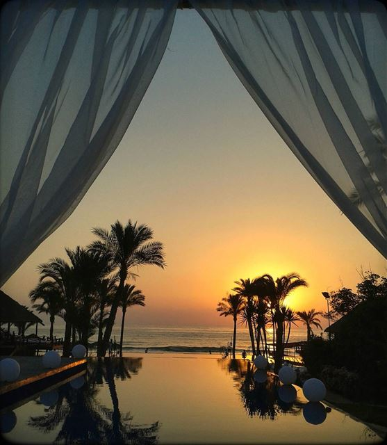 jannasurmer jannaresort beirut lebanon beach sunset pool summer ... (Janna Sur Mer)