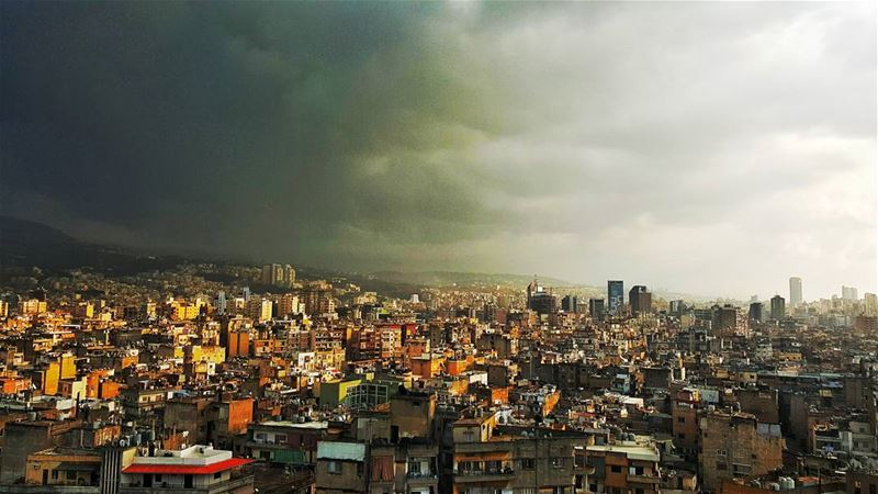 Beirut from the 11th floor  oldbuildings  newbuildings  clouds  cloudsover...