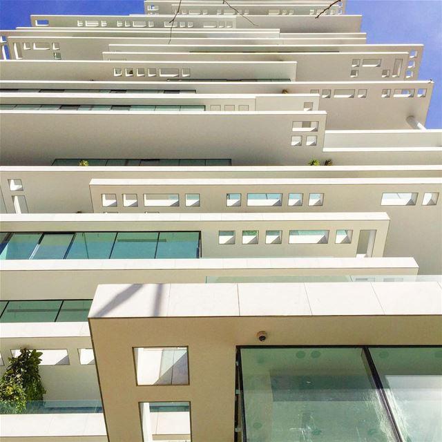 building architecturelovers architecture archilovers blue sky city ... (Beirut, Lebanon)
