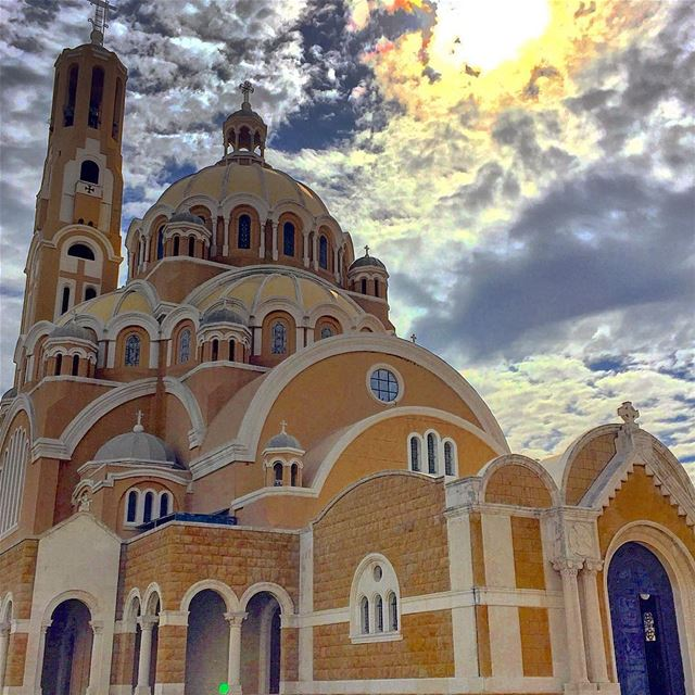 cathedral christianity religion architecture architecturelovers ... (Harisa, Mont-Liban, Lebanon)