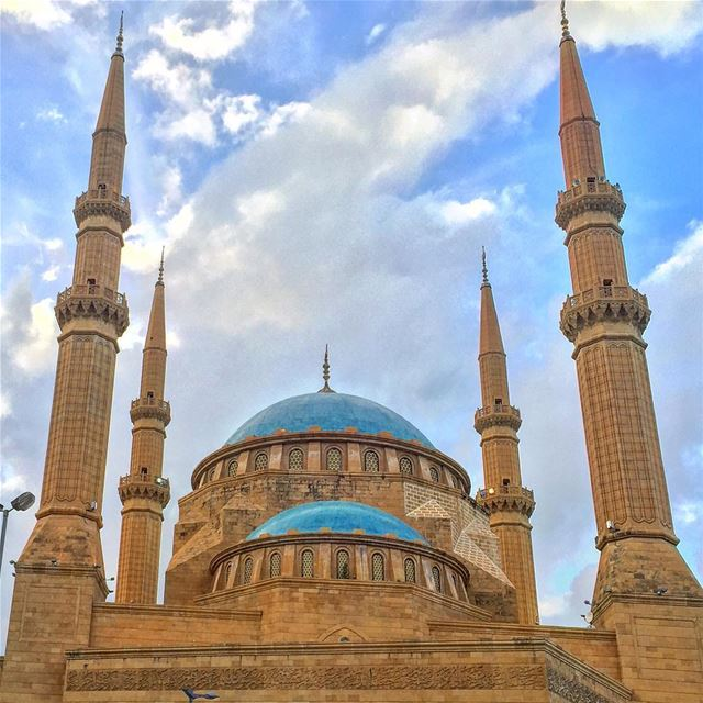 mosque islam architecture architecturelovers archilovers ... (Beirut, Lebanon)