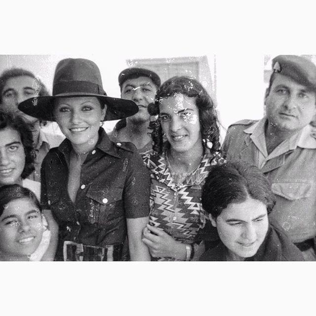Miss universe Georgina Rizk Visiting Baalbeck In 1977 ,