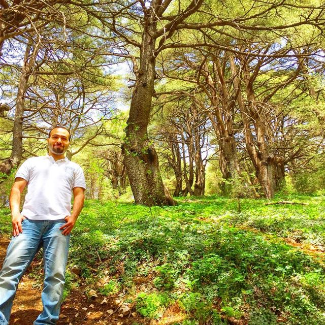 Photo credit: the great photographer @ghattaslabaky me hiking nature ... (Barouk Cedar Forest)