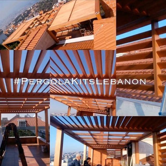 On the Roof! PergolaKitsLebanon. Pergola CanadianCedar Wood Louvers ... (Bsalim, Mont-Liban, Lebanon)