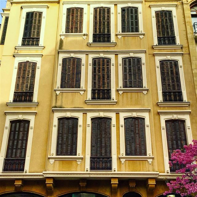 old building windows architecture architecturelovers archilovers ... (Beirut, Lebanon)