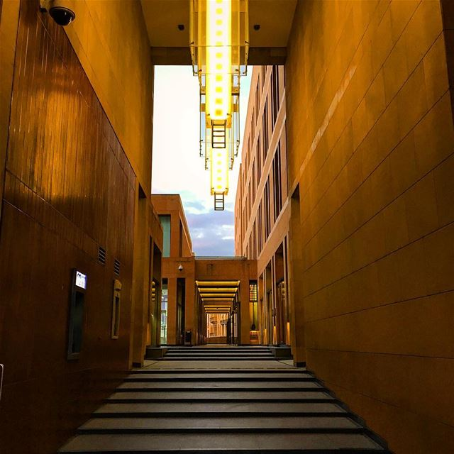 stairs yellow architecture archilovers architecturelovers lamps ... (Beirut Central District)