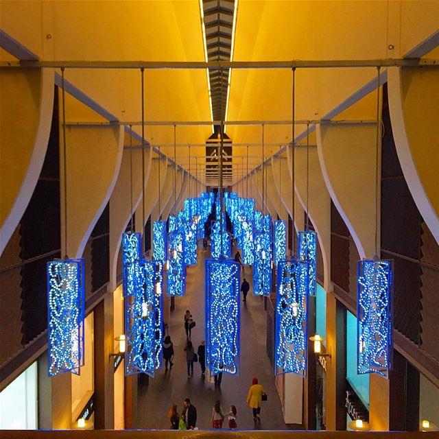 blue lights christmas spirit decoration architecture archilovers ... (Beirut Souks)