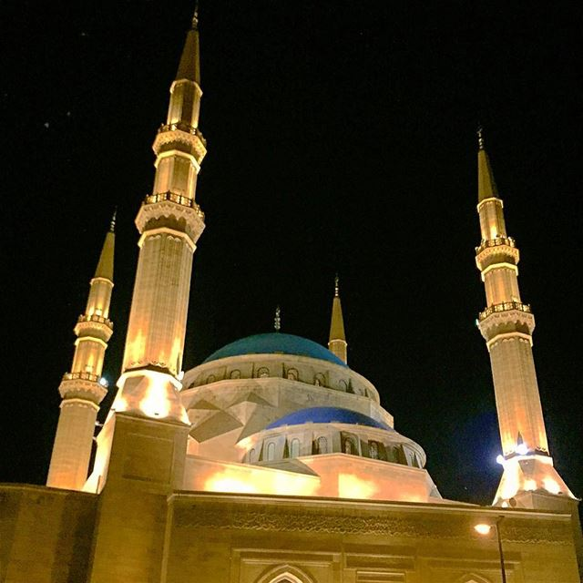 mosque minaret dome lights religion spirituality islam ... (Beirut Central District)