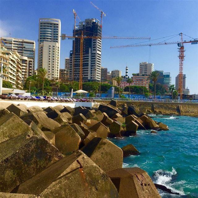 Manara sea sunny day archilovers architecture architecturelovers ... (Manara Beirut)
