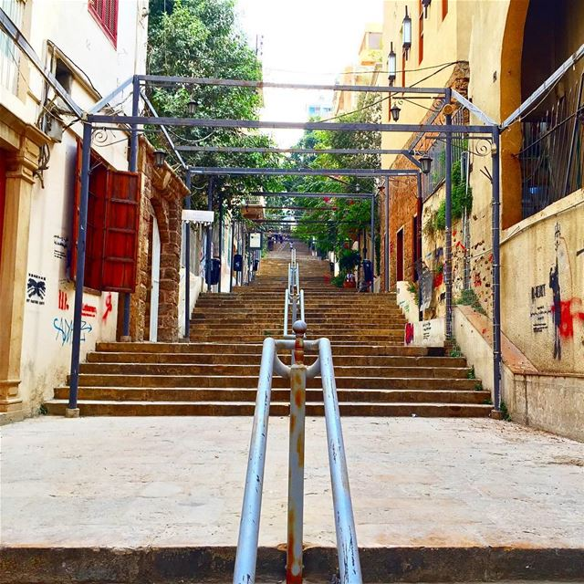 staircase stairs architecture archilovers architecturelovers streer ... (Gemmayzeh, Beirut)