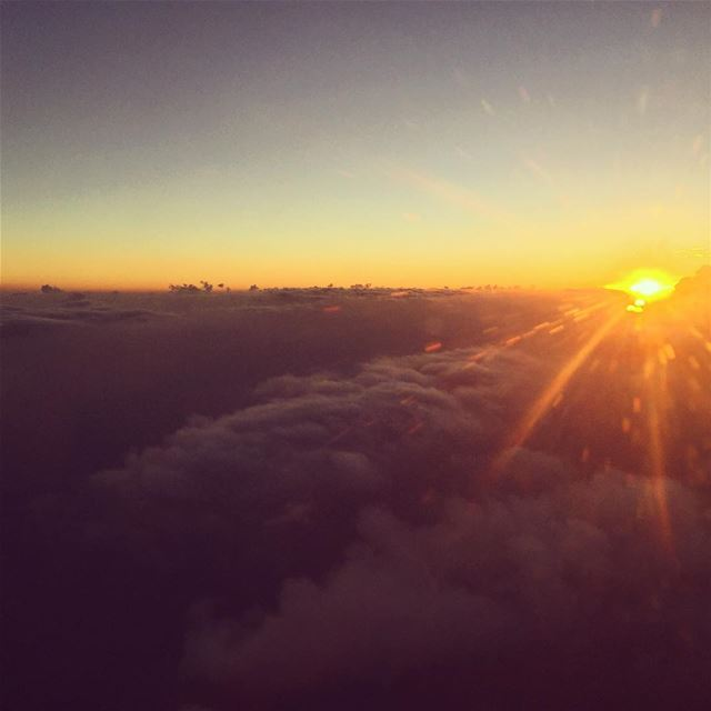 new day sunrise good morning airplane sharetravelpics photo ... (Beirut, Lebanon)