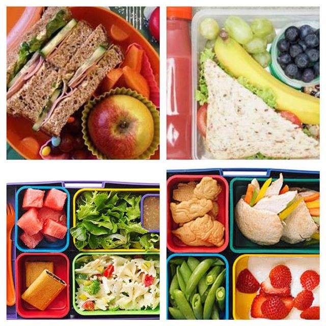 Healthy Ideas for lunch boxes at schools : 1-Fresh fruits 🍎🍒🍊2- fresh...
