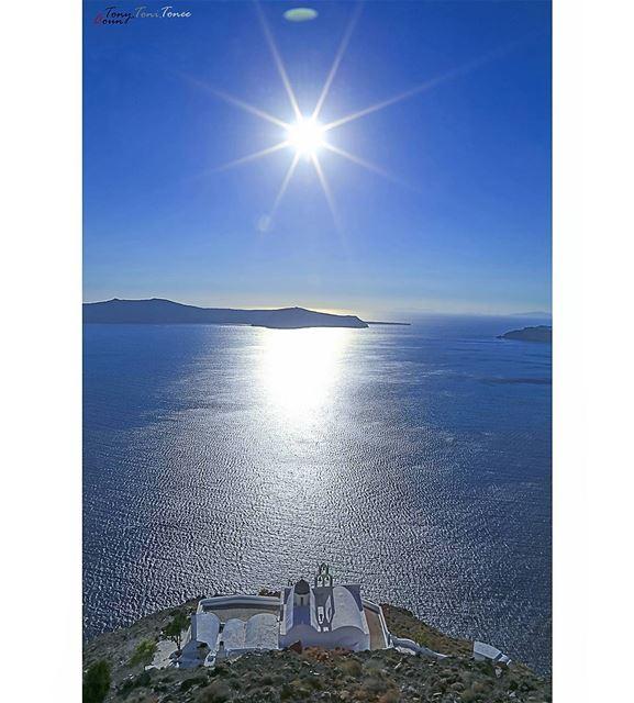 In the heart of the volcano!!! santorini greece island blue vacation ... (Santorini Greece)