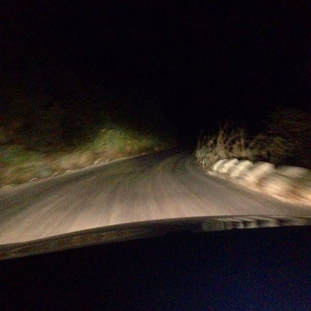 Chasing thoughts..... lebanon inthemiddleofnowhere night dark road ...