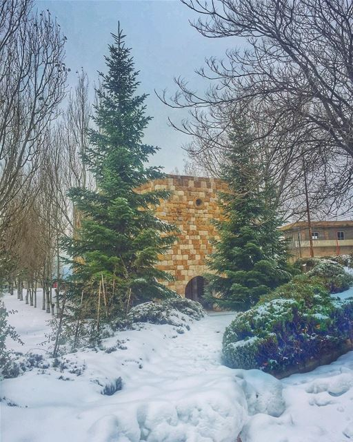 Close the door of your heart to negativity, guard it Pure as snow 💙❄️🙏... (Ehden, Lebanon)