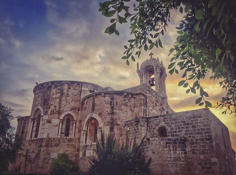 Pray, hope, and don't worry. Worry is useless. God is merciful and will... (St Jean Marc Church, Byblos)