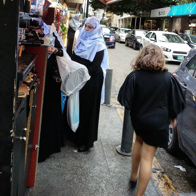 Shopping gets feverish at the dime store in Beirut. shoppingdistrict ... (Hamra street , Beirut - شارع الحمرا ، بيروت)