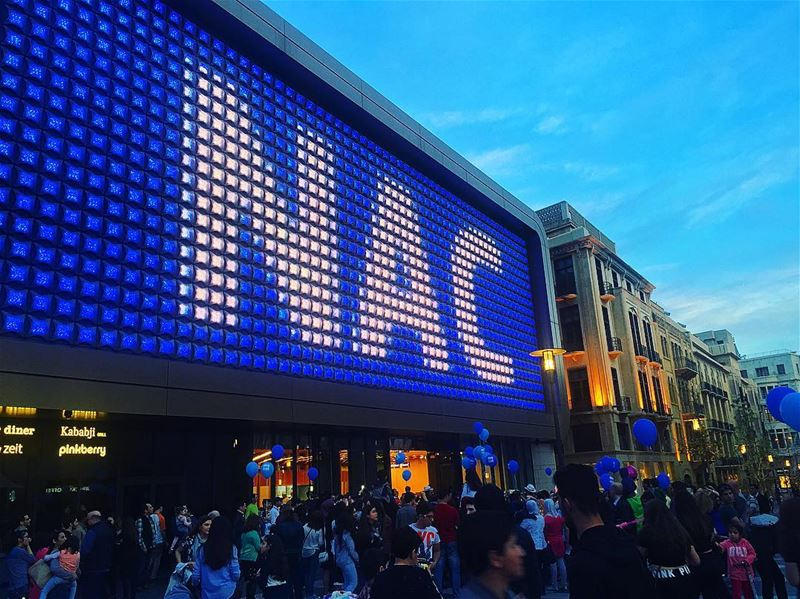For International autism day 💙 A wonderful initiative by ... (Beirut Souks Cinemacity)