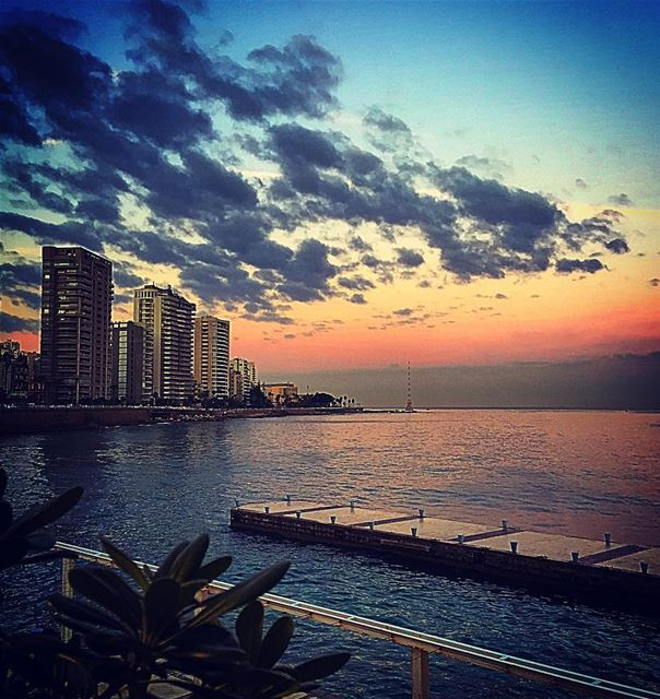 Clouds come floating into my life, no longer to carry rain or usher storm,... (Boulevard Beirut)
