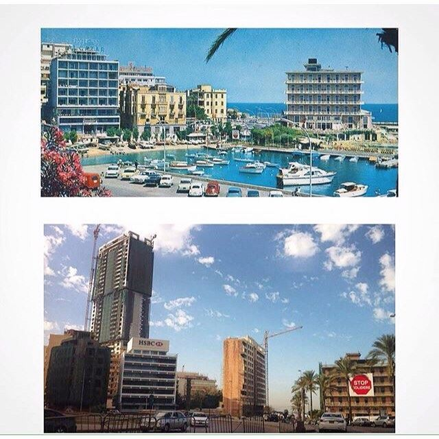 Beirut Corniche Saint George 2016 - 1967 .