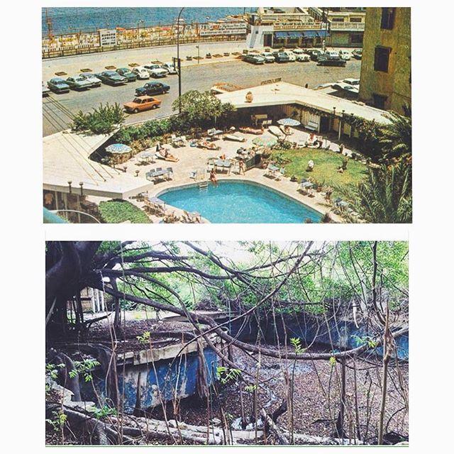 """Excelsior Hotel """"The Garden"""" , Beirut 2016 - 1973 ."""